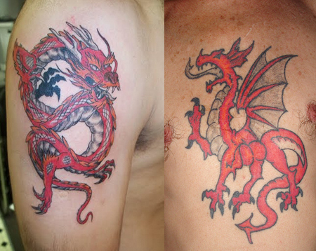 welsh dragon tattoo shoulder images galleries with a bite. Black Bedroom Furniture Sets. Home Design Ideas