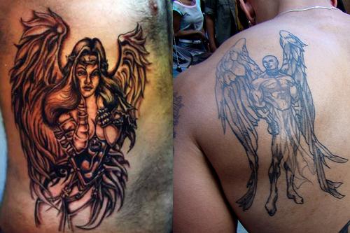 Angel Tattoo Designs for Men