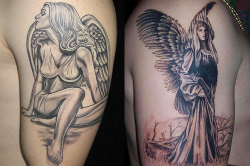 Angel Tattoo Designs for Men Sleeves