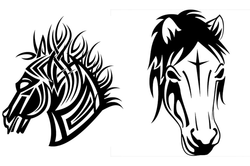 Horse Symbols Drawings Horse Tattoos Drawings