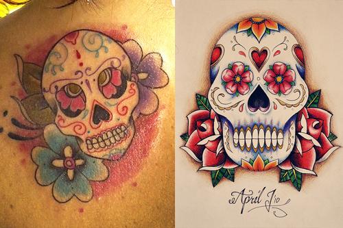 Sugar Skull Tattoos Designs Ideas Meaning Of Sugar Skull Tattoo