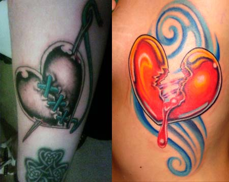 Real Broken Heart Tattoo