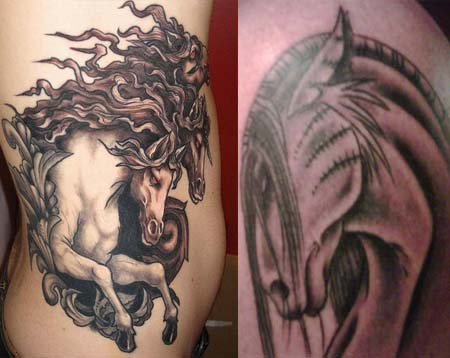 Dark Horse Tattoos Tattoo Ideas Designs Meaning