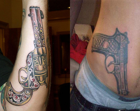 gun tattoos tattoo designs ideas tattoo me now. Black Bedroom Furniture Sets. Home Design Ideas