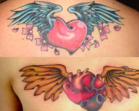 Heart With Wings Tattoos Ideas Designs Meaning Tattoo Me Now