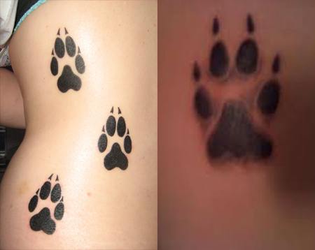 Aninimal Book: Paw Print Tattoos / Ideas, Designs & Pictures - Tattoo Me Now