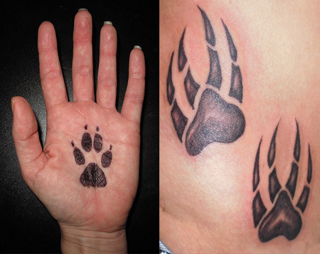 paw print tattoos ideas designs pictures tattoo me now. Black Bedroom Furniture Sets. Home Design Ideas