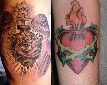 Sacred Heart Tattoos - Tattoo Me Now