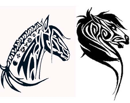 tribal horse tattoos lots of designs ideas tattoo me now. Black Bedroom Furniture Sets. Home Design Ideas