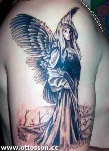 virgin mary angel tattoos