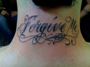 font lettering tattoo