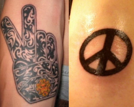 Peace Tattoos Ideas Designs Pictures Tattoo Me Now