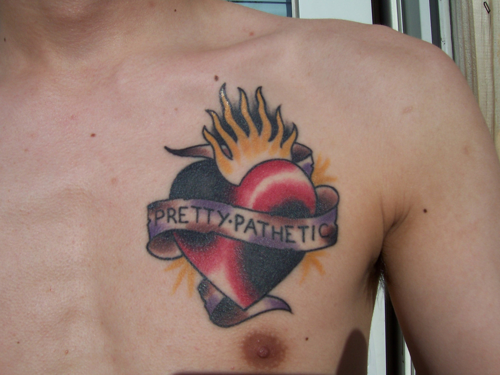 Broken Heart With Wings Tattoo Designs