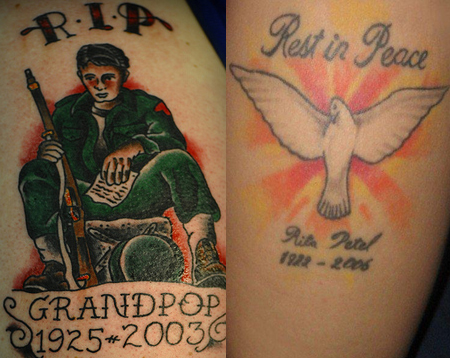 rip tattoos designs on ... Rest in Peace Tattoos – Ideas, Pictures & RIP Tattoo Designs