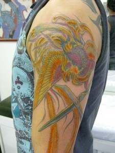 Great looking phoenix tattoo