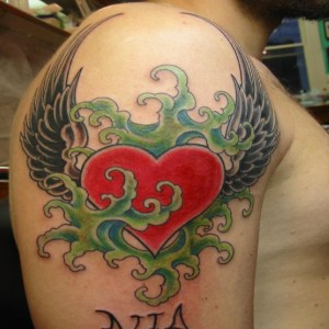 Winged Heart on shoulder