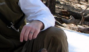Man with finger tattoo