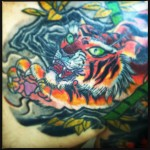 Oriental tiger tattoo