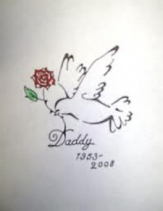 Dove Tattoo with a Rose