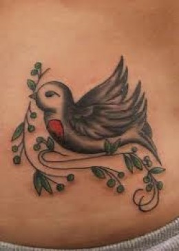 17 dove tattoos you should see tattoo me now. Black Bedroom Furniture Sets. Home Design Ideas