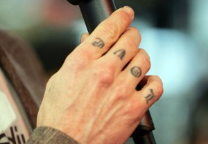 Love Knuckle Tattoo