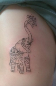 Elephant Ribcage Tattoo