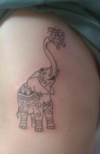 Elephant Ribcage Tattoo