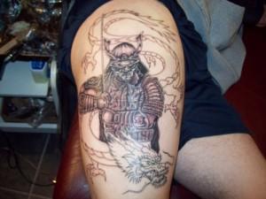 Dragon Warrior Samurai Tattoo