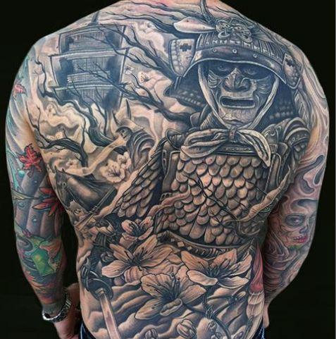 17 amazing samurai tattoos tattoo me now. Black Bedroom Furniture Sets. Home Design Ideas