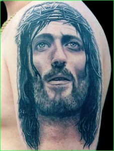 Movie related Jesus Tattoo