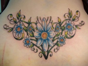 Blue Daisy Tattoo