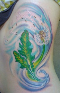 15 Cute Dandelion Tattoos