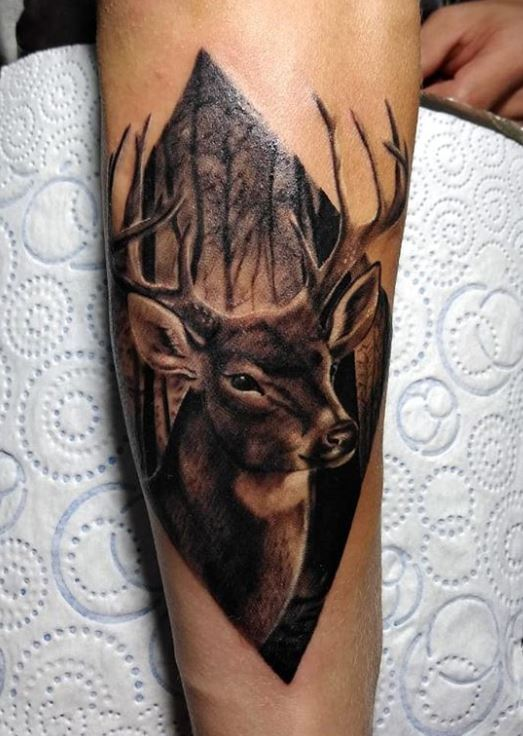 15 Deer Tattoos You Must See Tattoo Me Now