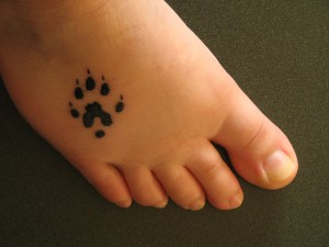 Simple Paw Tattoo