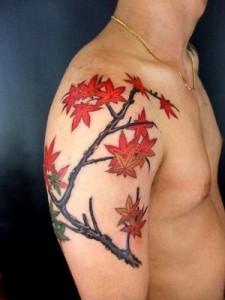 Bold Flower Tattoo For Men