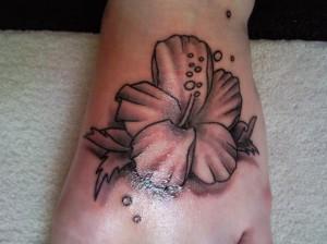 Pollen Release From Hawaiian Flower Tattoo