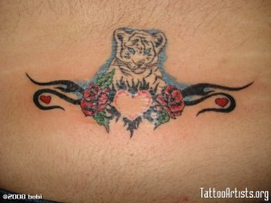 Nurturing White Tiger Tattoo