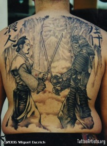 Epic Battle Samurai Tattoo