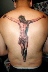 Back Hanging Jesus Tattoo