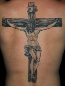 Crucifix for the Back Jesus Tattoo
