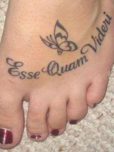Esse Quam Videri Latin Quote Tattoo