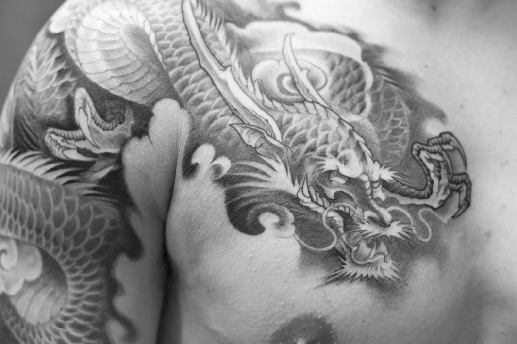 5a635b31f341c 22 Unique Japanese Dragon Tattoos & Designs