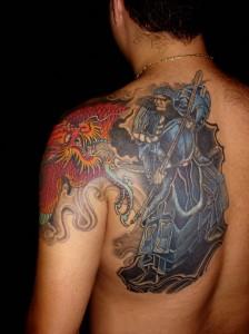 Blue Samurai Tattoo
