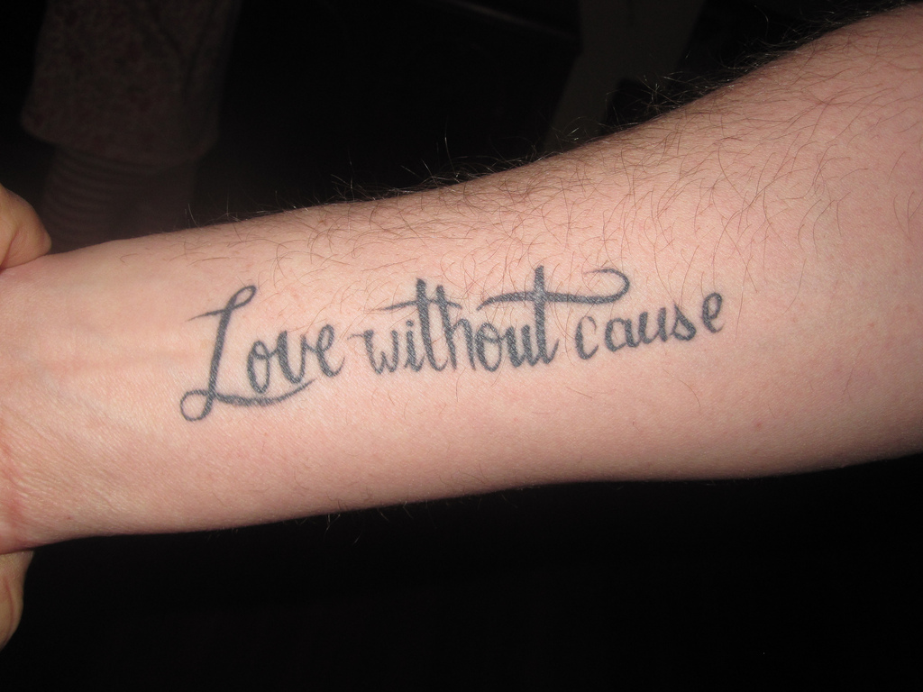 Love without cause tattoo