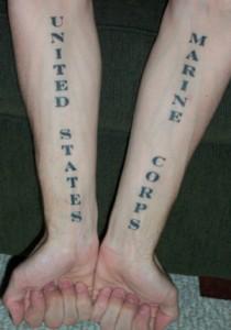 US Marine Forearm Tattoos