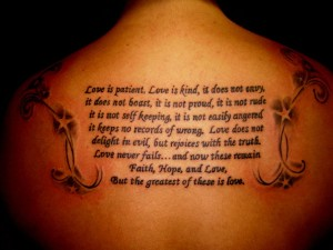 Love Bible Verse Tattoo