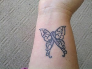 Butterfly Ribbon Tattoo
