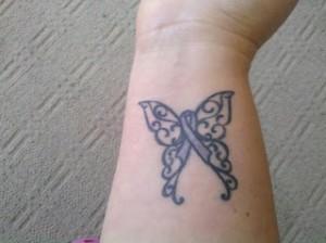 Butterfly Ribbon Tattoo