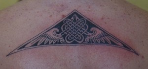 celtic back tattoo