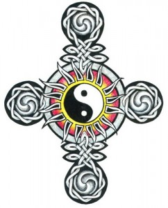 Celtic cross yin yang